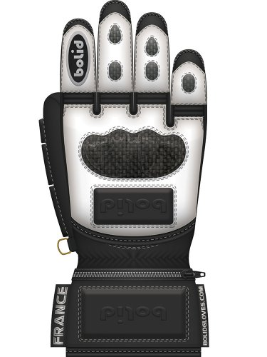 Bolid Leopard Carbon Skin guanti da sci in pelle racing corsa personalizzati